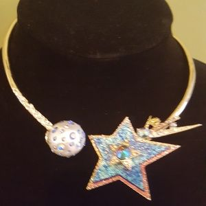Betsy Johnson Shooting Star Wraparound Necklace